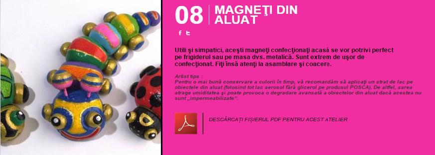 Magneti din aluat - Atelier