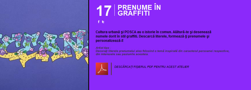 Prenume in graffiti - Atelier