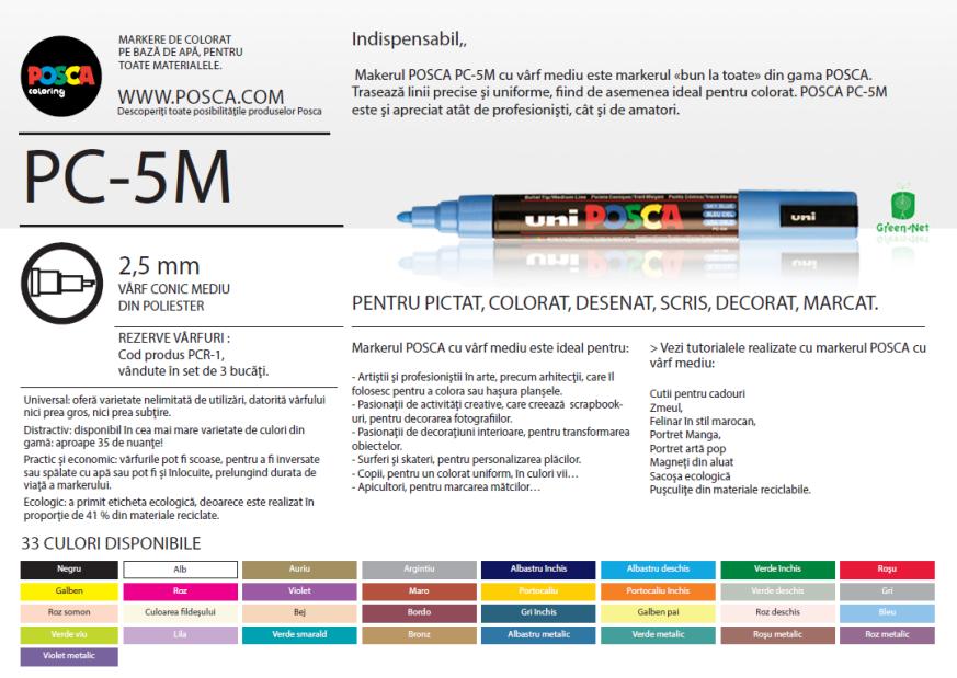 Descriere POSCA PC-5M